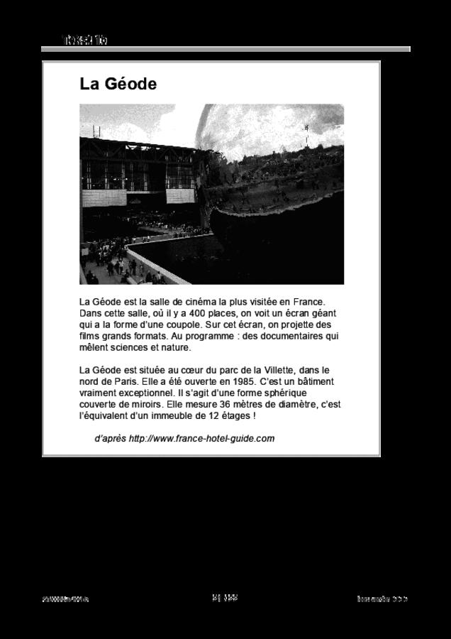 Bijlage examen VMBO GLTL Frans 2019, tijdvak 1. Pagina 21