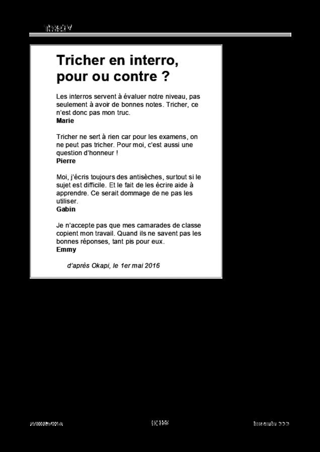 Bijlage examen VMBO GLTL Frans 2019, tijdvak 1. Pagina 10