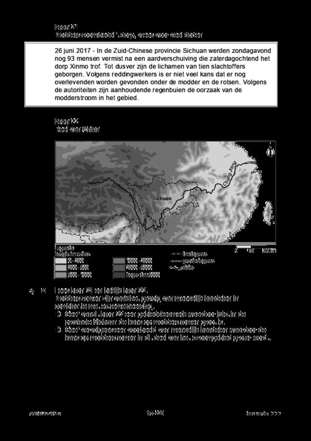 Opgaven examen VMBO GLTL aardrijkskunde 2019, tijdvak 1. Pagina 15