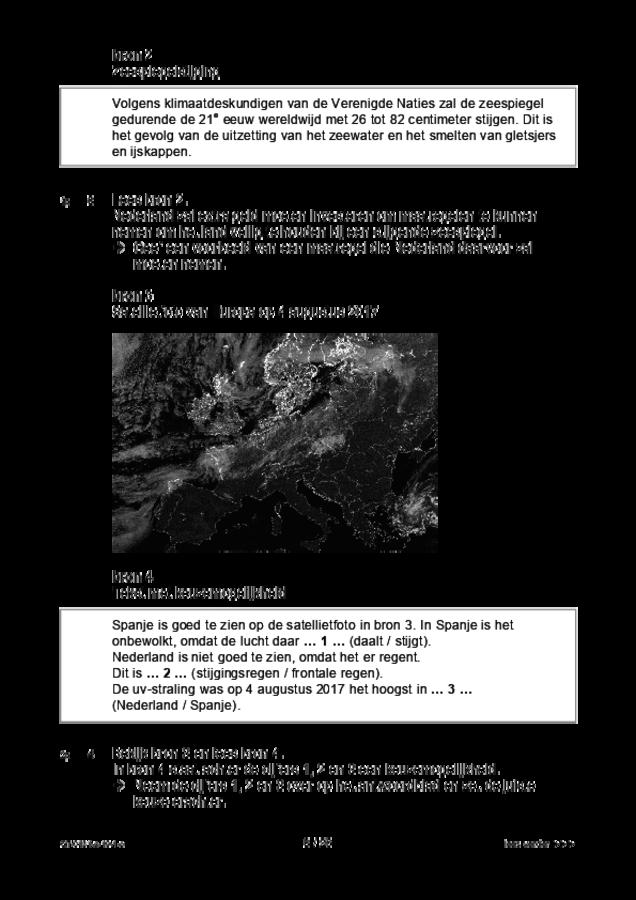 Opgaven examen VMBO GLTL aardrijkskunde 2019, tijdvak 1. Pagina 3