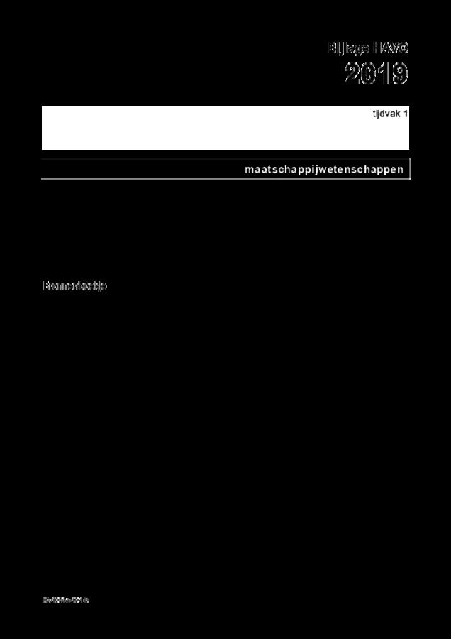 Bijlage examen HAVO maatschappijwetenschappen 2019, tijdvak 1. Pagina 1