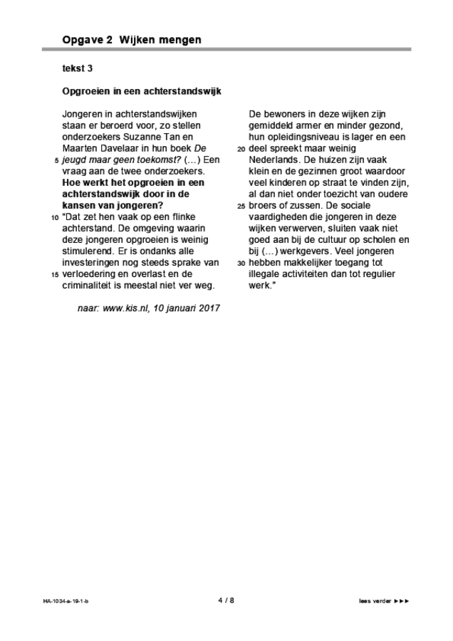 Bijlage examen HAVO maatschappijwetenschappen 2019, tijdvak 1. Pagina 4