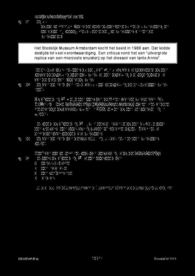 Opgaven examen HAVO tekenen, handenarbeid en textiele werkvormen 2018, tijdvak 1. Pagina 13