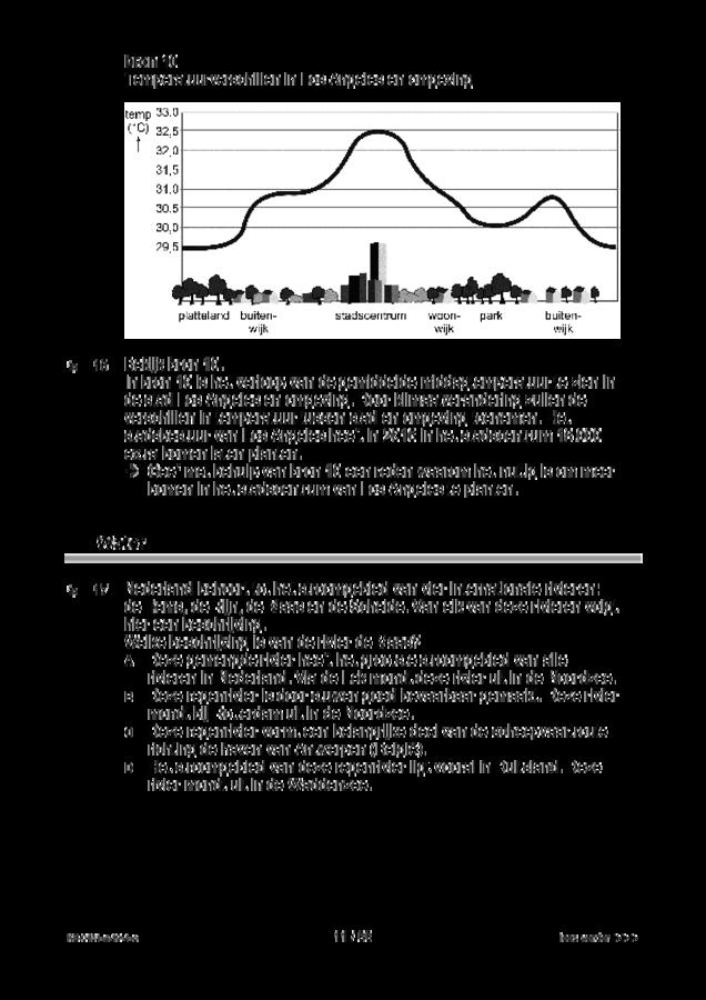 Opgaven examen VMBO KB aardrijkskunde 2019, tijdvak 1. Pagina 11