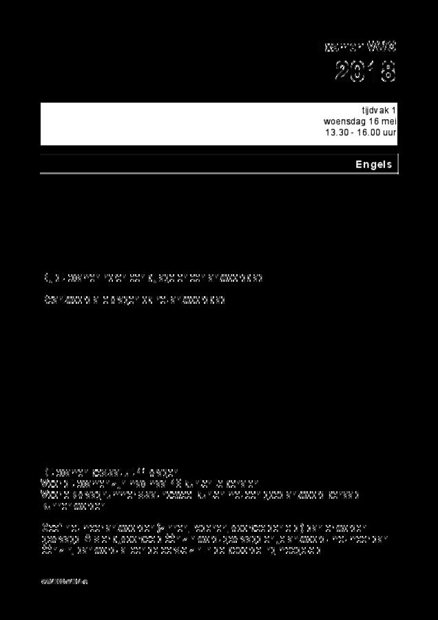 Opgaven examen VWO Engels 2018, tijdvak 1. Pagina 1