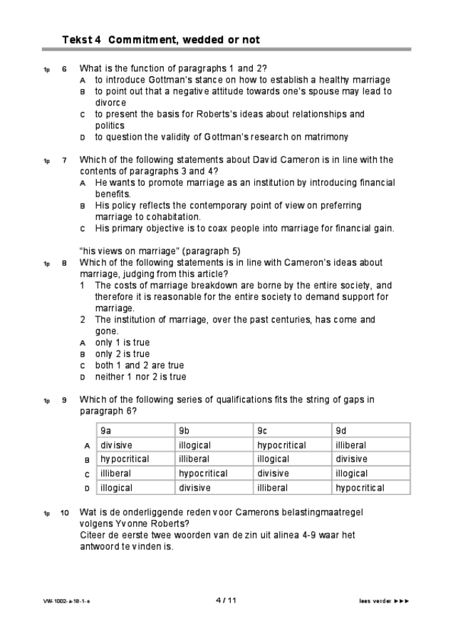 Opgaven examen VWO Engels 2018, tijdvak 1. Pagina 4