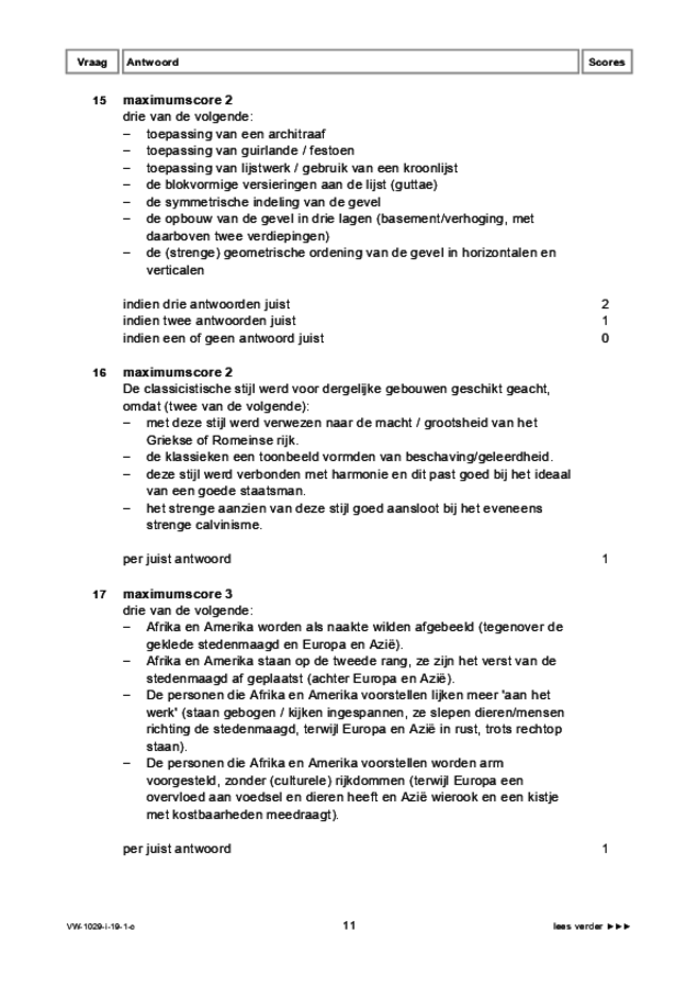 Correctievoorschrift examen VWO kunst (algemeen) 2019, tijdvak 1. Pagina 11