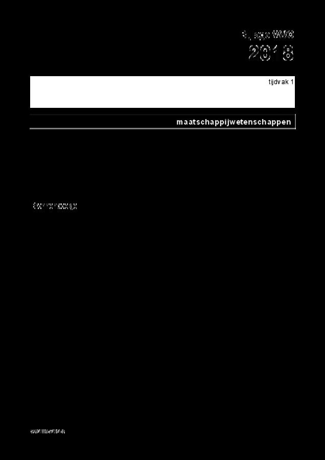 Bijlage examen VWO maatschappijwetenschappen 2018, tijdvak 1. Pagina 1